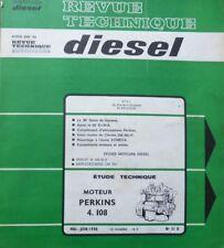 Revue technique DIESEL moteurs PERKINS 4.108 RTA 31D 1968