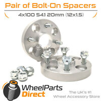 Bolt-On Wheel Spacers (2) 4x100 54.1 20mm for Mazda MX-5 [Mk4] 15-20