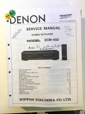 Denon DCM-450 CD Player Service Manual *Original*