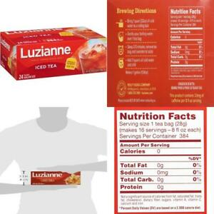 Luzianne Specially Blended For Iced Tea 24 Gallon Size 24 Count