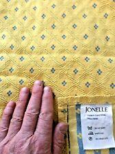 "vintage Jonelle ~ primrose yellow heavy jaquard woven bedspread ~ 104"" x 104"""