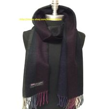 New Fashion Men's Winter Warm 100% Cashmere Scarf Tweed Stripe SCOTLAND Wrap