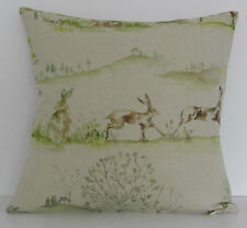 "Voyage Boxing Hares Rabbits Trees 16"" Cushion Cover"