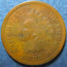 1885 INDIAN HEAD BRONZE CENT, Circulated Nice Details Philadelphia Mint Coin #3