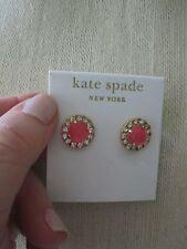 NWT Beautiful Kate Spade Secret Garden Stud Earrings- Flo Pink