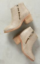 Anthropologie Grove Boot Woven Leather by Kelsi Dagger Brooklyn Size 6 $198