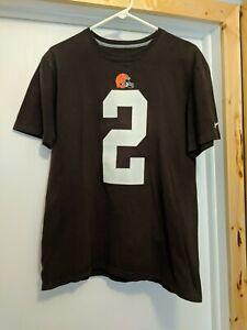 NFL Football Nike Men's Cleveland Browns #2 Johnny Manziel T-Shirt (Medium)