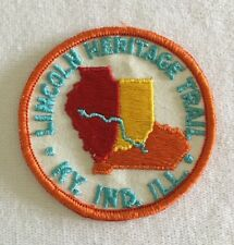 BSA Patch Lincoln Heritage Trail KY. IND. ILL.  1960's Boy Scouts Of America