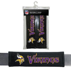 NFL Minnesota Vikings Seat Belt Pads Velour Pair by Fremont Die
