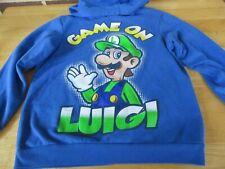 Super Mario Bros.Pullover Hoodie Sweatshirt Game On Luigi Graphic Child (10-12)