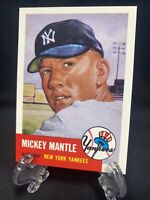 1991 Topps Archives 1953 Mickey Mantle #82 Yankees✨Sharp!!🔥📈🔥 HOF