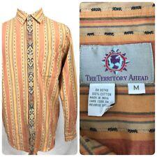 The Territory Ahead Tribal Aztec Shirt Cotton Men's Medium Southwestern A3