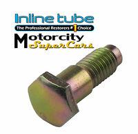 "GM Seat Belt Bolt, 1-1/2"" Long, Factory Correct Grade 8 Gold CAD Plated 1pc"