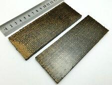 Paire de jute & Black Canvas Micarta Scales Poignée de Couteau Making Blanks Crafts