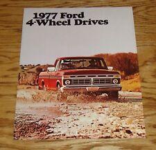 Original 1977 Ford 4-Wheel Drive Truck Foldout Sales Brochure 77 F-150 F-250