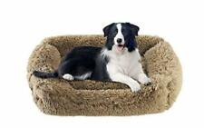 New listing Rectangle Dog Pet Bed for Large Dogs with Washable Removable Cover Calming Br.