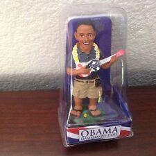 "NEW Hawaiian PRESIDENT OBAMA Dashboard  Bobble Head Doll w/ Ukulele 4"" #40667"
