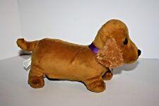 "Nintendo nintendogs DOG puppy brown dachshund Plush Stuffed Toy 10"" 2008 as-is"