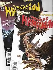 ~ Wow ~ (2) The Savage Hawkman #'S 1&2 Dc New 52, Both vf+/nm 2011