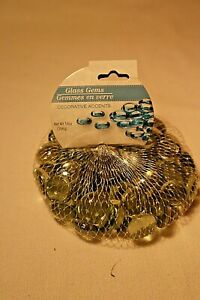 GLASS GEMS DECORATIVE ACCENTS CLEAR COLOR