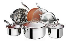 Gotham Steel Nonstick Stainless Steel 10-Piece Cookware Set