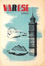 5718) VARESE, TORRE CAMPANARIA, CARTOLINA RADIO AMATORI. ILL. CONTARINI. VG.