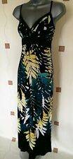 DRESS SMALL S LONG MAXI SUMMER HOLIDAYS TEA PARTY OCCASION SUN STRETCH OASIS