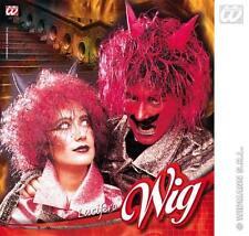 ROSSO & Nero Parrucca diavolo con corna unisex HALLOWEEN FANCY DRESS