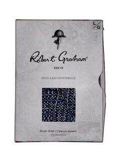 robert graham boxer brief blue