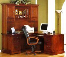 Golden Oak Savannah L-Shaped Computer Desk & Hutch Whalen Furniture Mfg. Co NEW