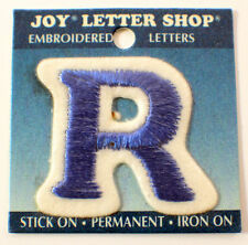"The Letter R Blue And White 1.25""  X 1.5"" Uniform Patch"