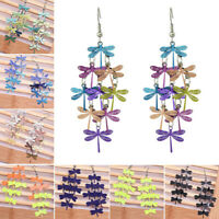 6cm Length Women Dragonfly Statement Hook Drop Dangle Earring Fashion Jewelry