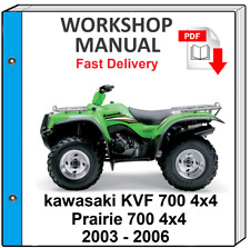 KAWASAKI KVF700 PRAIRIE 700 4x4 2003 2004 2005 2006 SERVICE REPAIR SHOP MANUAL