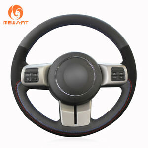 Top Leather Suede Steering Wheel Cover for Jeep Compass Grand Cherokee Wrangler