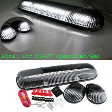 3PCS Clear Cab Roof Running White LED Lights Fit 2002-2007 Chevy Silverado GMC