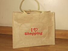 Personalised Jute / Hessian Shopping Bag Embroidered