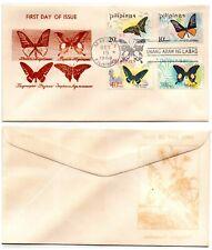 1969 PHILIPPINES FDC Cachet Butterflies Scott 1031-1034 4 Values