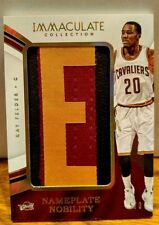 "Kay Felder # 5/6 ""Nameplate Nobility 'E' "" Patch  2016-17 Immaculate"
