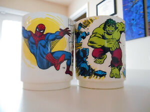 Spider-Man Hulk Cup Vintage 1977 Deka