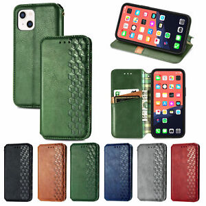 For iPhone 13 Pro 78 XS Max 12 Leather Wallet Card Slot Magnetic Flip Case Stand