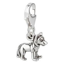 Charm / Anhänger Hund Schäferhund 2 mit Karabinerverschluß 925 Sterling Silber