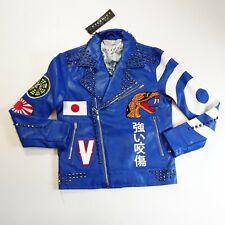 Eternity bc/ad Men biker leather jacket 100%Authentic size Medium blue Japan