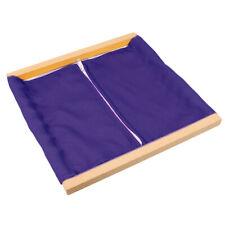 Kids Wooden Frame Clothing Dressing Box Zipper Montessori Preschool Teaching