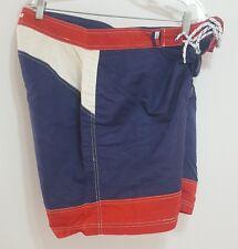 Vintage 90s TOMMY HILFIGER Flag Swim Trunks Sailing Board Shorts Mens XLarge