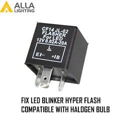 AllaLighting Turn Signal Hazard LED Flasher Relay CF14 3Pin,Fix Fast Hyper-flash