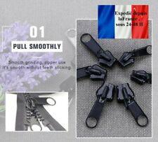 Kit de réparation fermeture éclair Rapide 1 paquets de 6 , 3 tailles Noir