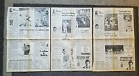VINTAGE 1975 PROVIDENCE RI NEWSPAPER PAGES WORLD SERIES RED SOX/REDS