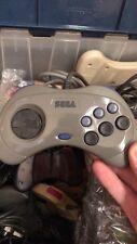 Sega Saturn Controller, Grey, OEM, HSS-0101  Fully Tested, USA Seller