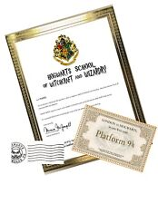 Personalized HOGWARTS ACCEPTANCE Letter with Ticket, Requirement List & more!