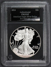 2014-W 1 oz AMERICAN EAGLE $1 SILVER DOLLAR, TONED *PROOF* LOT#N373